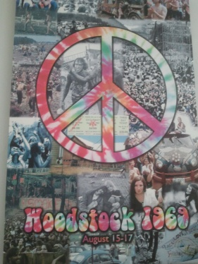 Cartell commemoratiu del festival de Woodstock