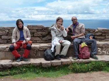 Amb el Jeroen i l'Anne-Laure a Taquile