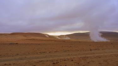 Terra de geysers
