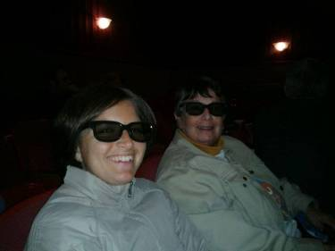 Al cine 3D amb la Paula