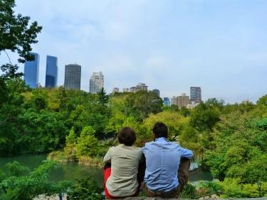 Un bon lloc amb vistes per descansar al Central Park