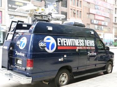 Clàssica furgo de notícies