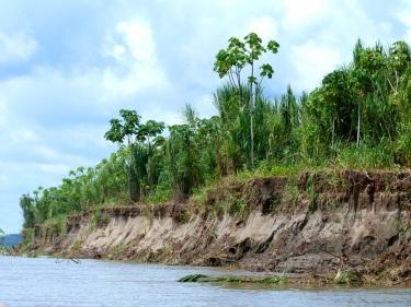 Alçada que agafa el riu en època de crescuda