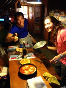 Sopar israelí + català. Sí... ja sabem que la truita és espanyola...