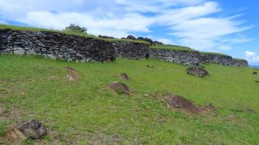 Reconstrucció de l'antic poblat d'Orongo