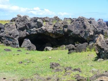 Cova on s'amagaven els rapanuis en èpoques de conflicte