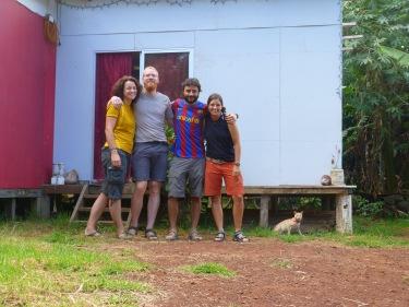 Amb la parella alemana; Stephan i Bea. I el gat.