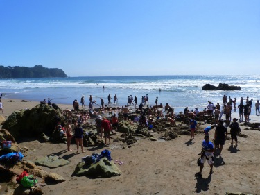 Hot Water Beach, la turistada...