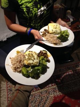 Lasanya de carbassa i espinacs