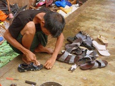 Arreglant-me la sabata