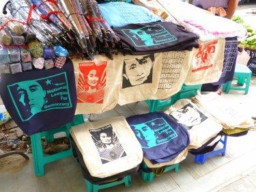 Merchandising de l'Aung San Suu Kyi