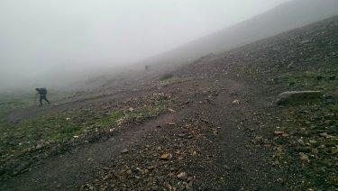 Pujant al High Camp, 50' de dur ascens a les 6am